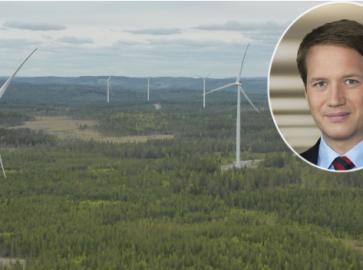 Viel Wald, und viele Windräder: Die Anlage in Schweden hat ein Tochterunternehmen der Stadtwerke 2015 in Betrieb genommen. Stadtwerke-Chef Florian Bieberbach hat mit der Anlange derzeit ein Problem.